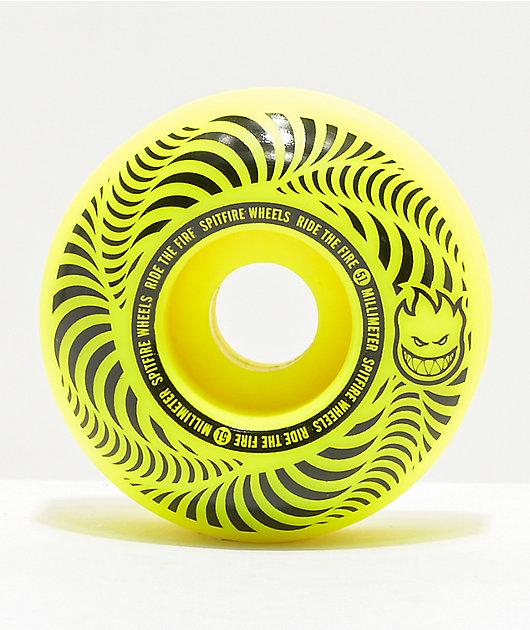 Spitfire Flashpoint 51mm 99a Yellow Skateboard Wheels