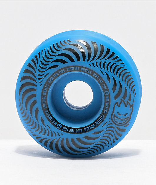 Spitfire Flashpoint 52mm 99a Blue Skateboard Wheels