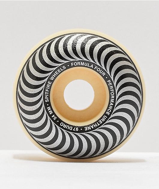 Spitfire Formula Four Classic Black & Silver 54mm 97a Skateboard Wheels