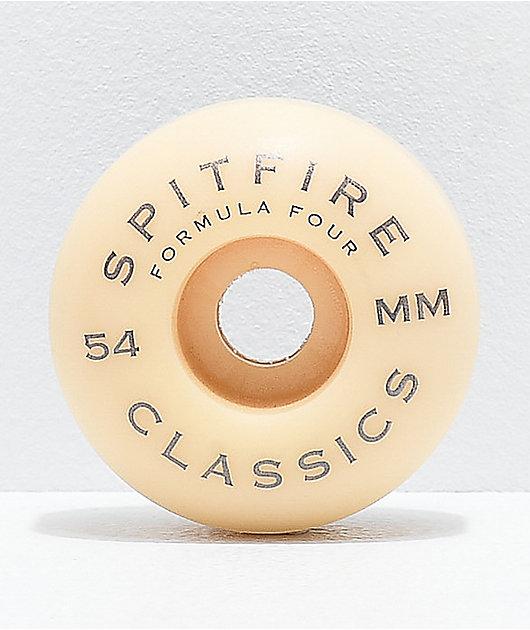 Spitfire Formula Four Classic Black & White 54mm 99a Skateboard Wheels