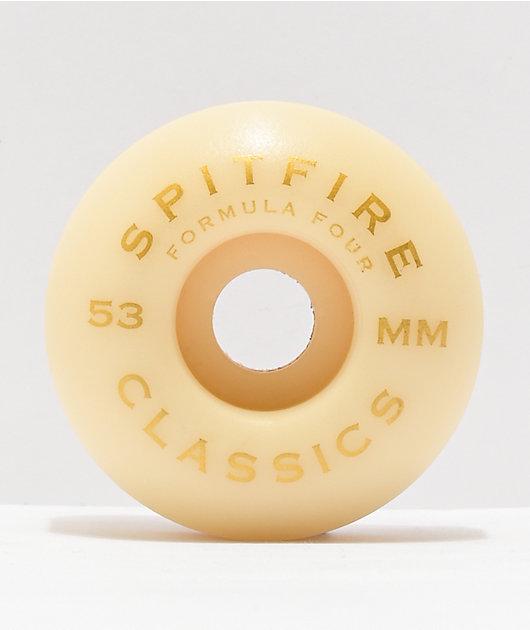 Spitfire Formula Four Classic Orange & Black 53mm 101a Skateboard Wheels