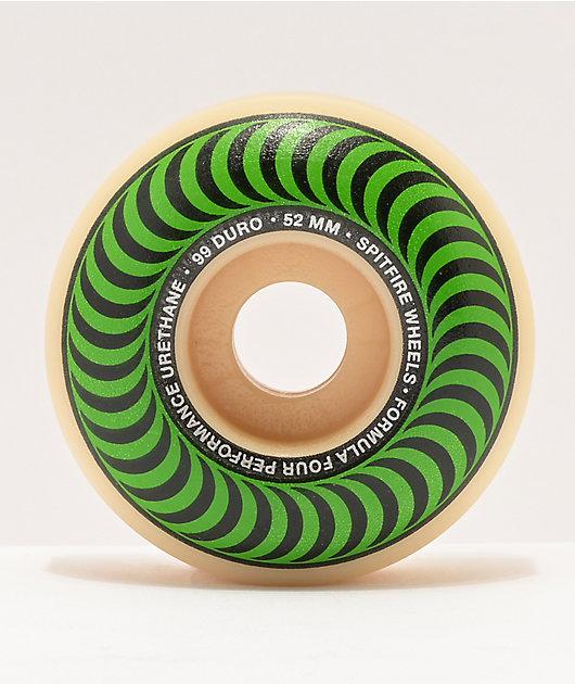 Spitfire Formula Four Classics 52mm 99a Green & Natural Skateboard Wheels