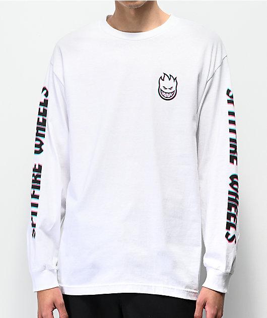 Spitfire Overlay Lil Bighead White Long Sleeve T-Shirt
