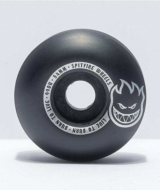 Spitfire Scorchers Black & Silver 54mm 99a Skateboard Wheels