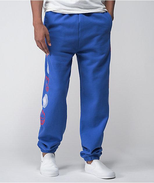 Spitfire Swirl Combo Blue Sweatpants