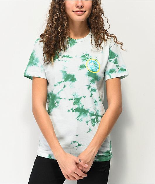 Spitfire Swirl Overlay Mint Tie Dye T-Shirt