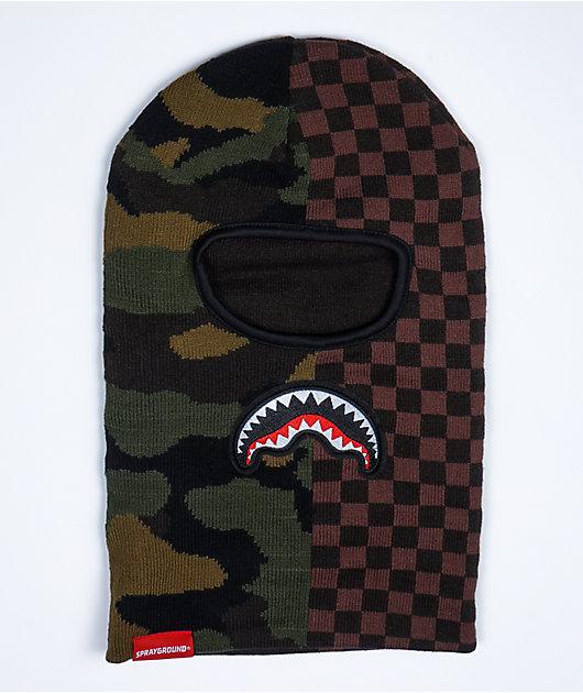 Sprayground Checks & Camo Ski Mask