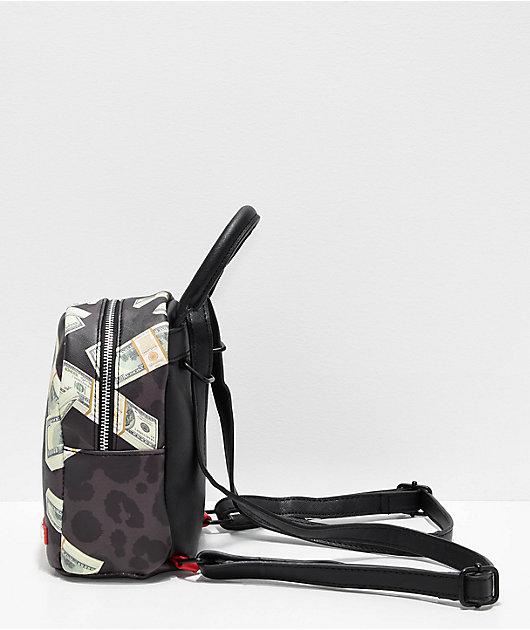 Sprayground Money Leopard Black Mini Backpack