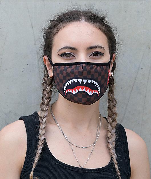 Sprayground Sharks In Paris Face Mask