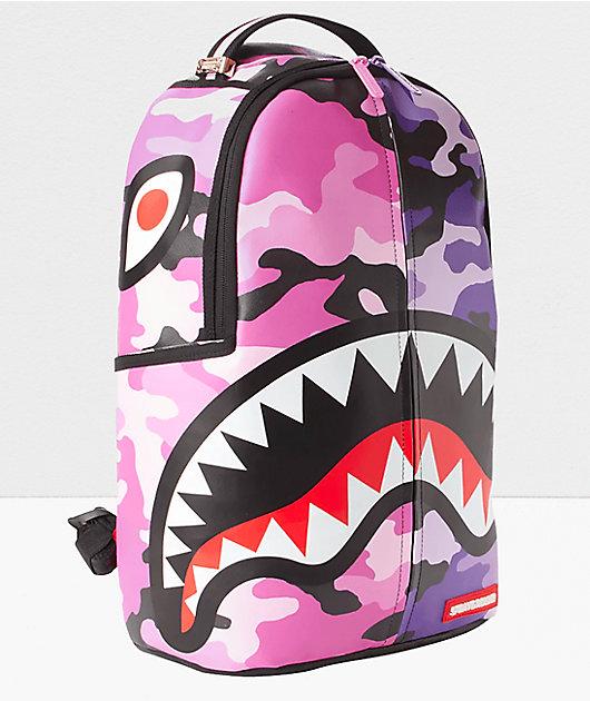 Sprayground Split Pink & Purple Camo Vegan Backpack