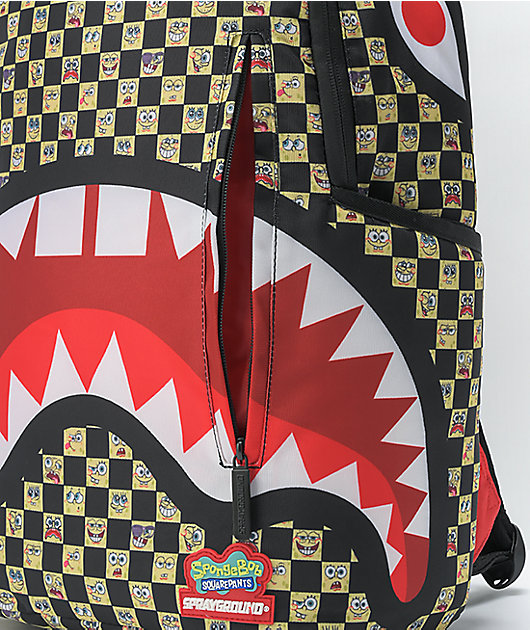 Sprayground Spongebob Checkered Backpack