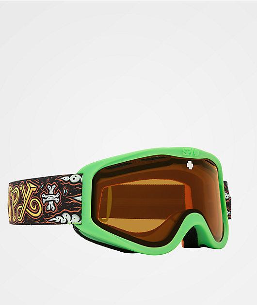 Spy Cadet Dirty Hog HD Persimmon gafas de snowboard para niños