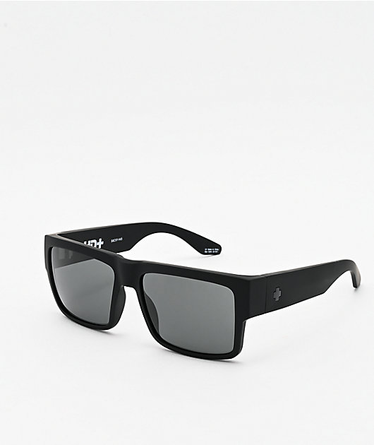 Spy Cyrus Matte Black & HD Plus Gray Green Sunglasses
