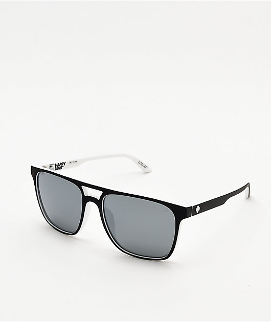Spy Czar White Wall & Silver Happy Lens Sunglasses