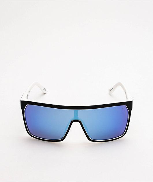 Spy Flynn Whitewall, Grey & Blue Happy Lens Sunglasses