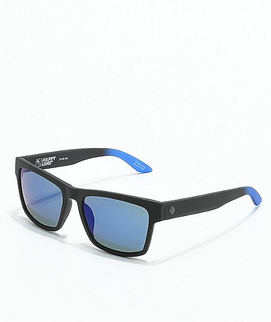 Spy Haight 2 Soft Matte Black & Blue Sunglasses