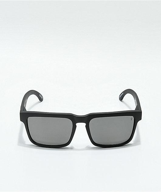 Spy Helm Matte Black & Gray Polarized Sunglasses