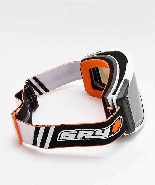 Spy Raider Old School White Snowboard Goggles