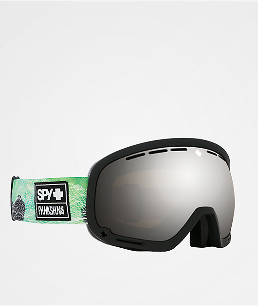 Spy x Phunkshun Marshall gafas de snowboard negras y verdes