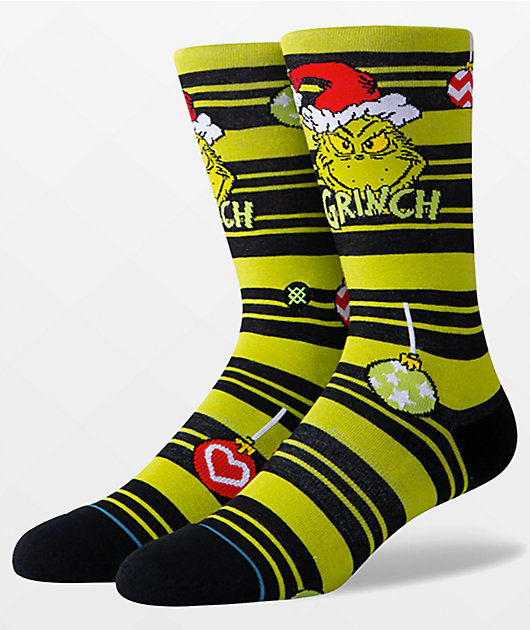 Stance The Grinch Ornament calcetines verdes y negros