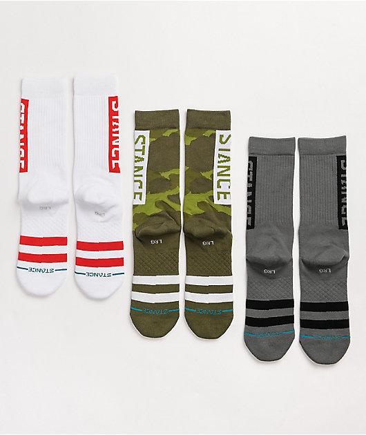Stance The OG Camo 3 Pack Crew Socks