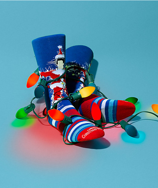 Stance x Christmas Vacation Red, White & Blue Crew Socks