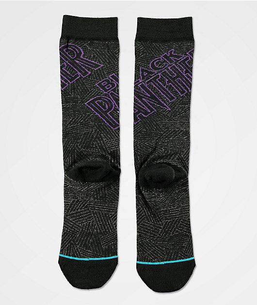 Stance x Marvel Black Panther Black Crew Socks