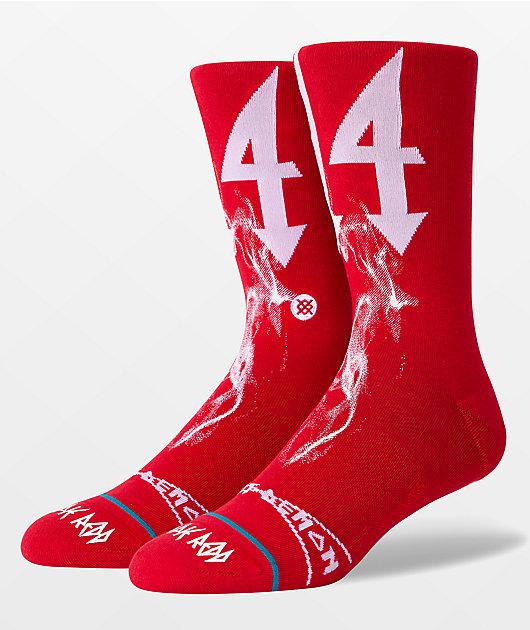 Stance x Trippie Redd White & Red Crew Socks