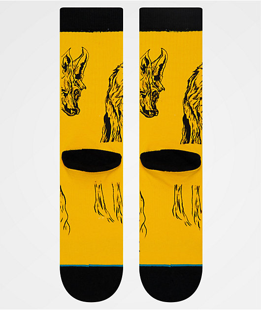 Stance x Welcome Wolves Yellow Crew Socks