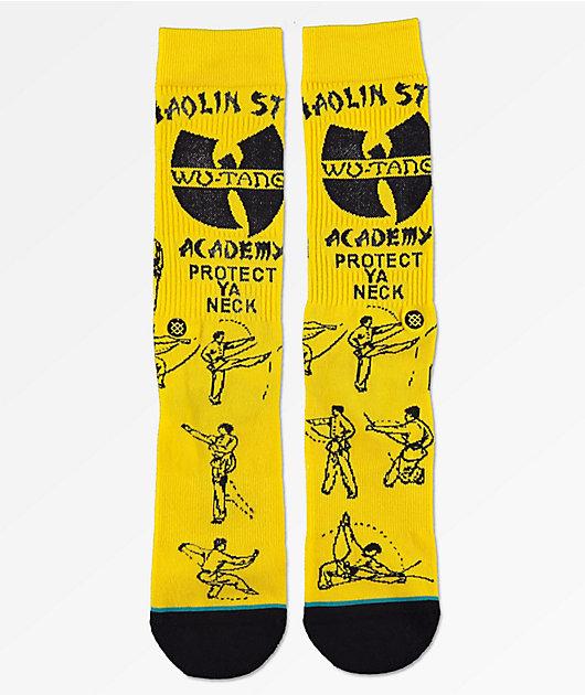 STANCE Men Anthem Wu-Tang Clan Protect Ya Neck Socks Large 9-12 Yellow Black