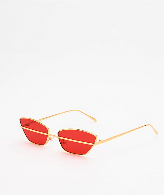 Stand By Me Red & Gold Sunglasses