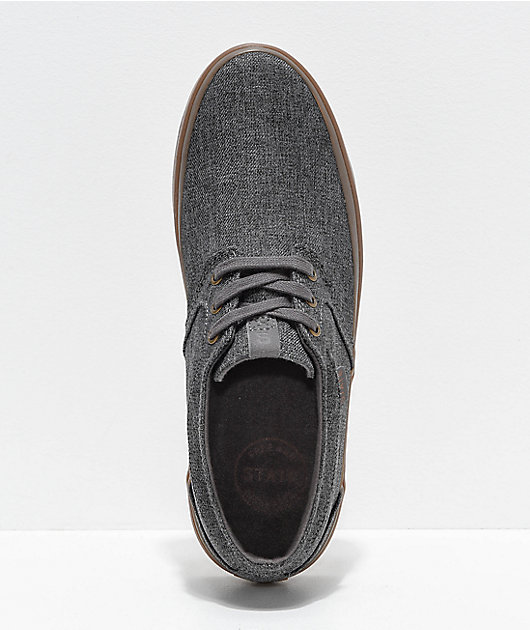 State Bishop Dark Grey Chambray & Gum Skate Shoes