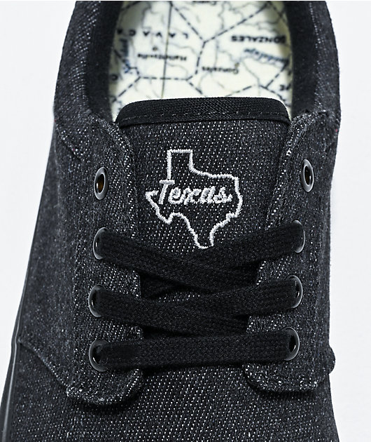 State Elgin Texas Black Denim Skate Shoes