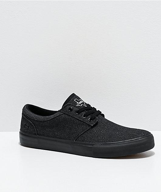 State Elgin Texas zapatos de skate de mezclilla negra