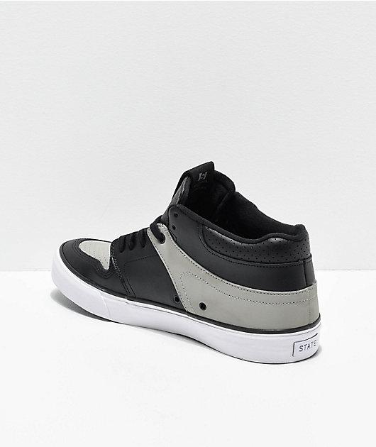 State Mercer Black, Grey & White Skate Shoes