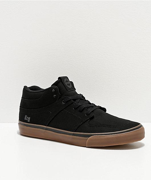 State Mercer Black & Gum Canvas Skate Shoes