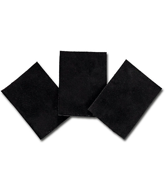 Stick & Flick Black Suede Skate Patches