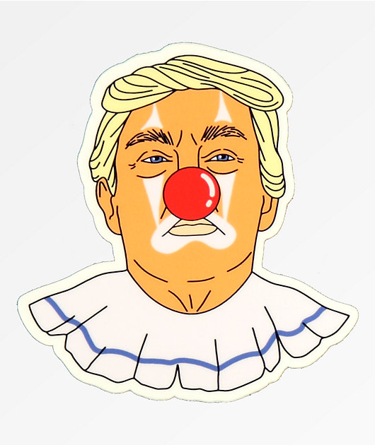 Stickie Bandits Donald Clown Sticker