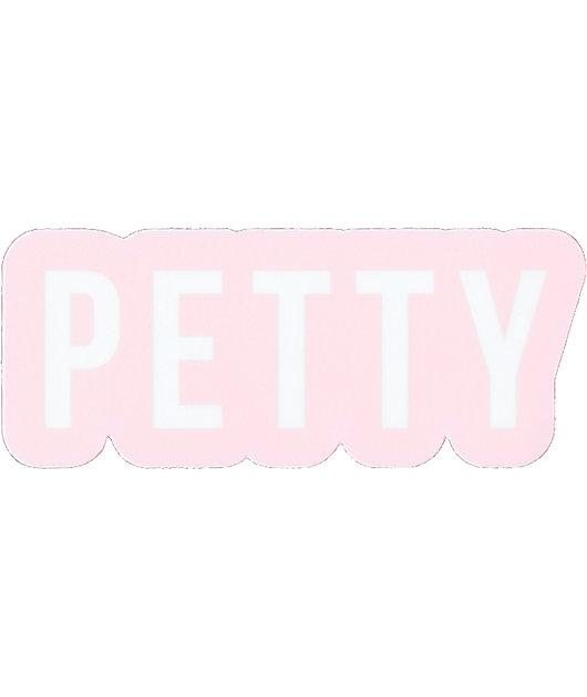 Stickie Bandits Petty Pink & White Sticker