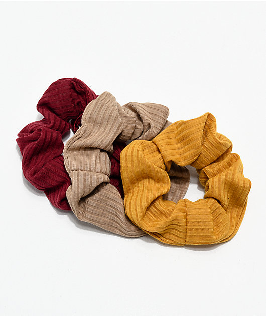 Stone + Locket Autumn 3 Pack Scrunchies