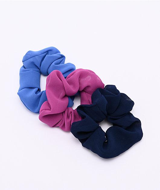 Stone + Locket Magenta Blues 3 Pack Scrunchies