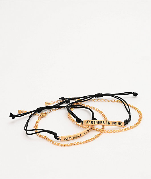 Stone + Locket Partners In Crime Friend pulsera
