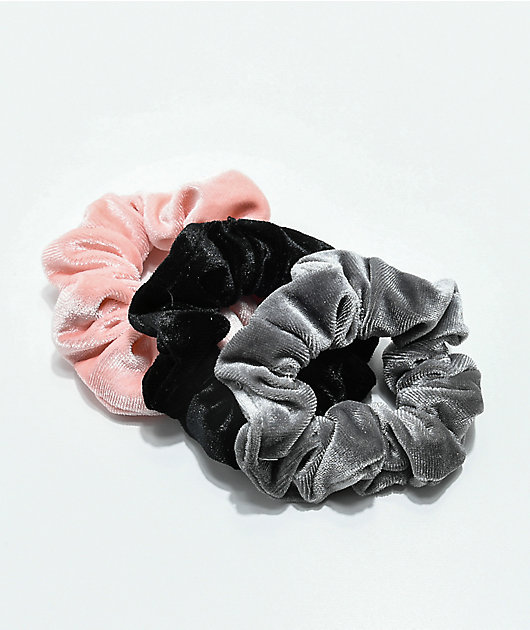 Stone + Locket Velvet 3 Pack Scrunchies