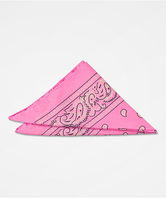 Stone + Locket bandana rosa clásica