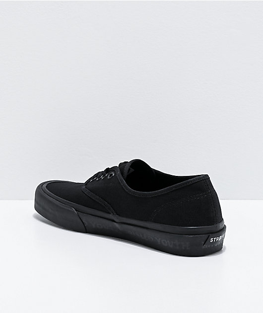 Straye x Zero Gower Black Skate Shoes