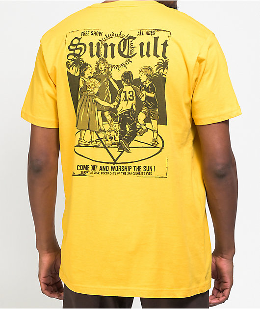 Suncult Free Show Gold T-Shirt