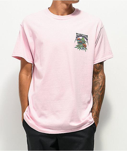 Suncult Tread Lightly Light Pink T-Shirt