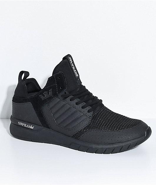 Supra Method All Black Leather \u0026 Mesh