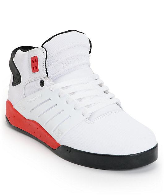 Supra Skytop III White, Black \u0026 Red TUF