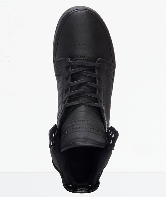 Supra Skytop Red Carpet Edition Black Skate Shoes